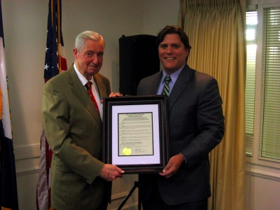 Burt German honored by Mayor